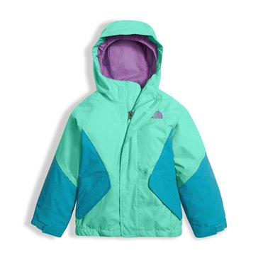 The North Face Toddler Girls' Kira Triclimate System Jacket, Bermuda Green