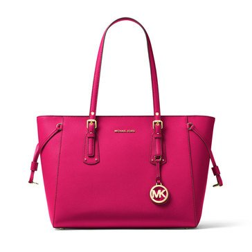 Michael Kors Voyager Medium Top Zip Tote Ultra Pink
