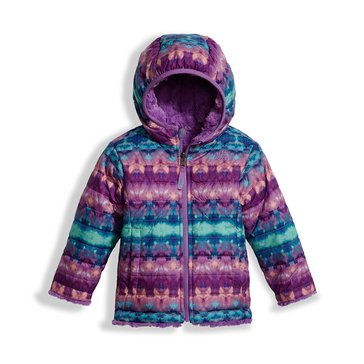 The North Face Toddler Girls' Mossbud Swirl Jacket, Algiers Blue Fair Isle Print