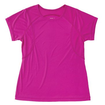 Jockey Women's Short Sleeve Relay Performance Tee in Popping Pink