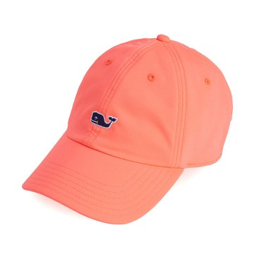 Vineyard Vines Performance Baseball Hat in Light Neon Melon