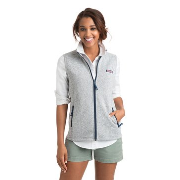Vineyard Vines Solid Fleece Vest in Grey Heather