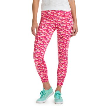 Vineyard Vines Palmetto Print Performance Legging in Rhododendron