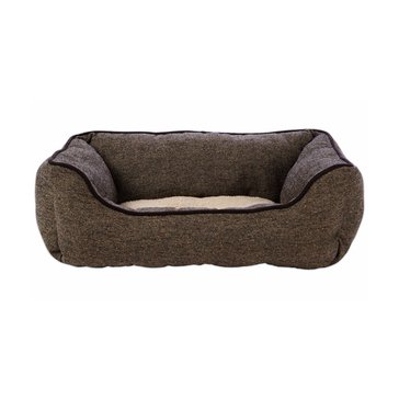 Harmony Nester Dog Bed in Brown Tweed 24