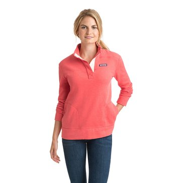 Vineyard Vines Button Placket Shep Shirt in Coral Red