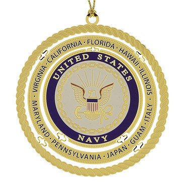 Chemart Naval Stations Around The World Ornament