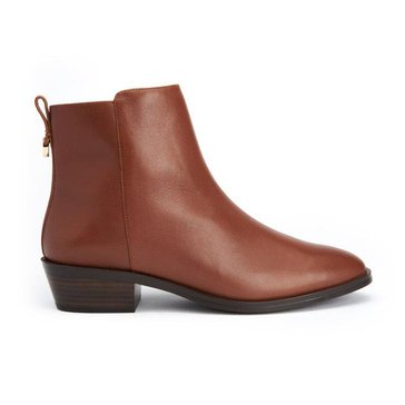 Coach Carmen Semi Matte Bootie Dark Saddle