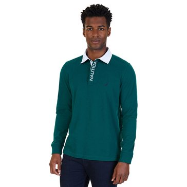 Classic Fit Long Sleeve Jersey Polo Shirt