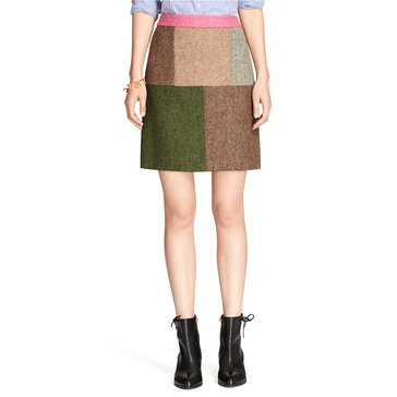 Brooks Brothers Fabric Patch Mini Skirt