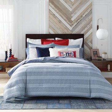 Tommy Hilfiger Williams Stripe Comforter Set, Blue - King