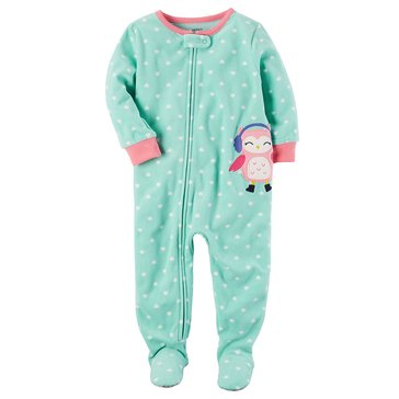 Carter's Baby Girls' Fleece Pajamas, Owl