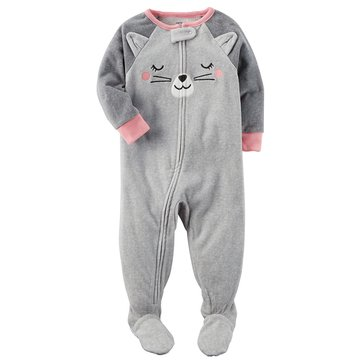 Carter's Baby Girls' Fleece Pajamas, Cat