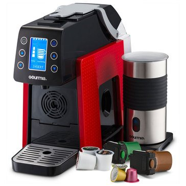 Gourmia Coffee & Espresso Combo Machine, Red (GCM5000R)