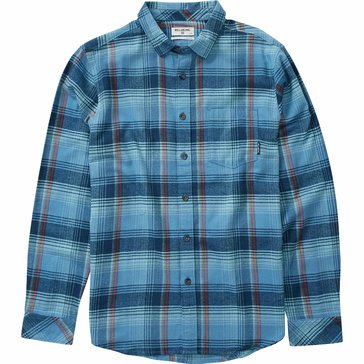 Billabong Big Boys' Coastline Flannel Shirt, Blue