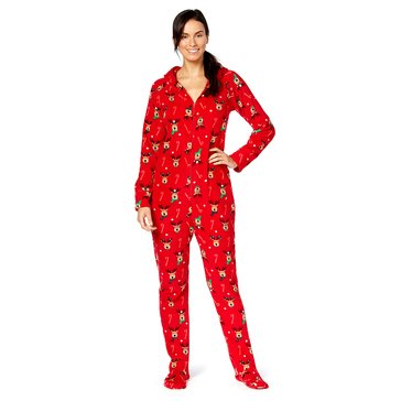Charter Club Missy Holiday Family PJs Hoodfoot Deer Reindeer