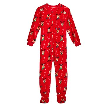 Charter Club Kids Footie Holiday Family PJs Reindeer