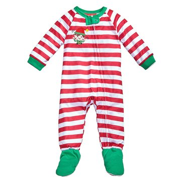 Charter Club Infant Footie Holiday Family PJs Elfing Candy Cane