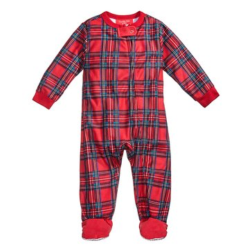 Charter Club Infant Footie Holiday Family PJs Brinkley Plaid