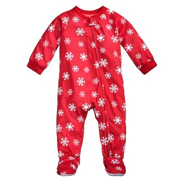 Charter Club Infant Footie Holiday Family PJs Meltdown Snowflake