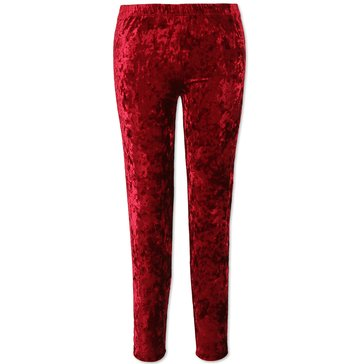 Speechless Big Girls' Crushed Velvet Leggings, Burgundy