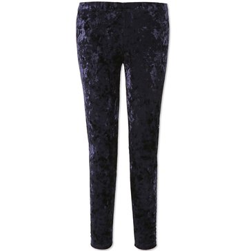 Speechless Big Girls' Crushed Velvet Leggings, Navy