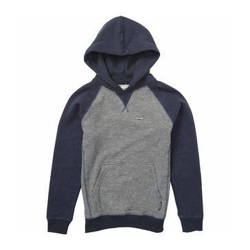 Billabong Little Boys' Balance Pullover Hoodie Fleece, Navy Heather