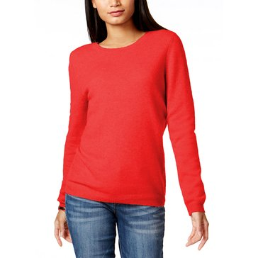 CHARTER CLUB CASHMERE CREW L/S SOLID CASHMERE CREW NK PULLOVER NEW RED AM-NOV