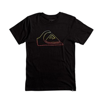 Quiksilver Little Boys' Jungle Mountain Tee, Black