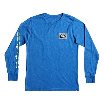 Quiksilver Little Boys' LS Shakka Tee Sea Heather