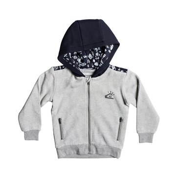Quiksilver Little Boys' Mindon Fleece Zip Hoodie Grey Heather