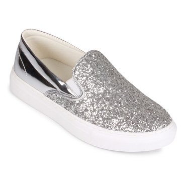 Wanted Spangle Slip On Sneaker Silver