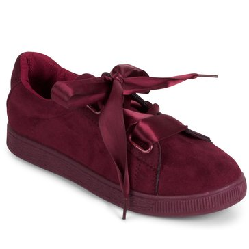 Wanted Jezebel Lace Up Sneakers Burgundy