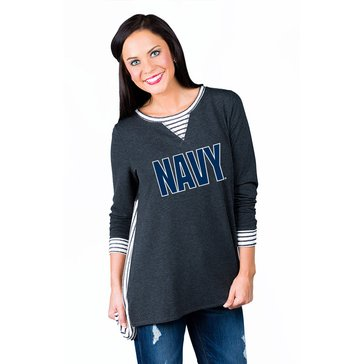 Game Day You'll Be Back Stripe Block Navy Tunic