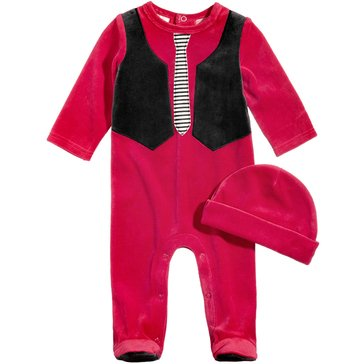 First Impressions Baby Boys' Velour Vest Coverall