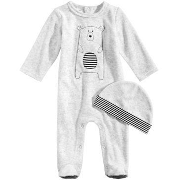 First Impressions Baby Boys' Velour Bear Coverall