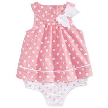 First Impressions Baby Girls' Polka Dot Sunsuit