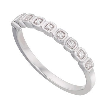 Sterling Silver Diamond Accent Stackable Band