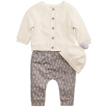 First Impressions Newborn 2-Piece Tree Sweater Set