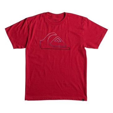 Quiksilver Big Boys' Jungle Mountain Tee, Red