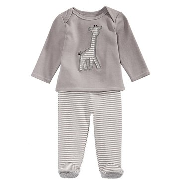 First Impressions Baby Girls' Giraffe Footie Set