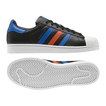 adidas Superstar Men's Basketball Shoe - CBlack / Blue / Footwear Black