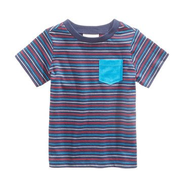 First Impressions Baby Boys' Stripe Pocket Tee