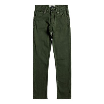 Quiksilver Big Boys' Distortion Color Pants, Green