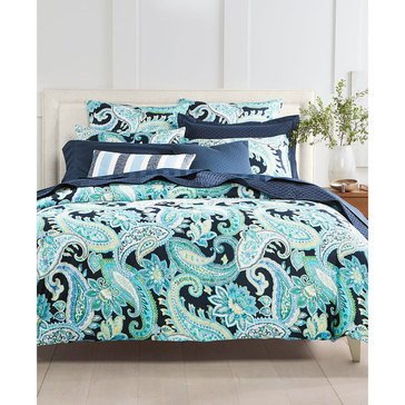 Charter Club Damask Multi Paisley Comforter Set - Queen