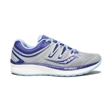Saucony ISO Hurricane 4 Women's Running Shoe - Grey / Blue / Purple