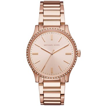 Michael Kors Women's Bailey Watch MK3809, Rose Gold Tone 38mm