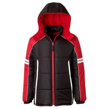 Ixtreme Big Boys' Colorblock Active Puffer Jacket, Black