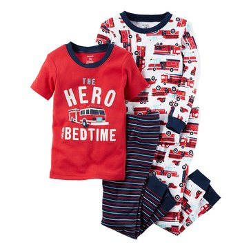 Carter's Little Boys' 4-Piece Pajama Set, Firetruck Hero At BEau de Toiletteime