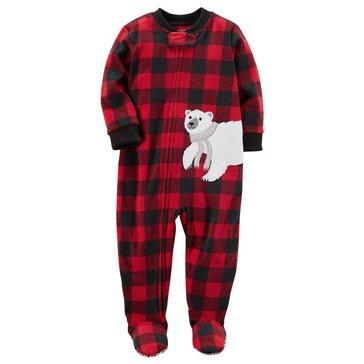 Carter's Toddler Boys' Christmas Fleece Pajamas, Buffalo Check