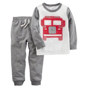 Carter's Toddler Boys' 2-Piece Set Firetruck Tee & Knit Joggers